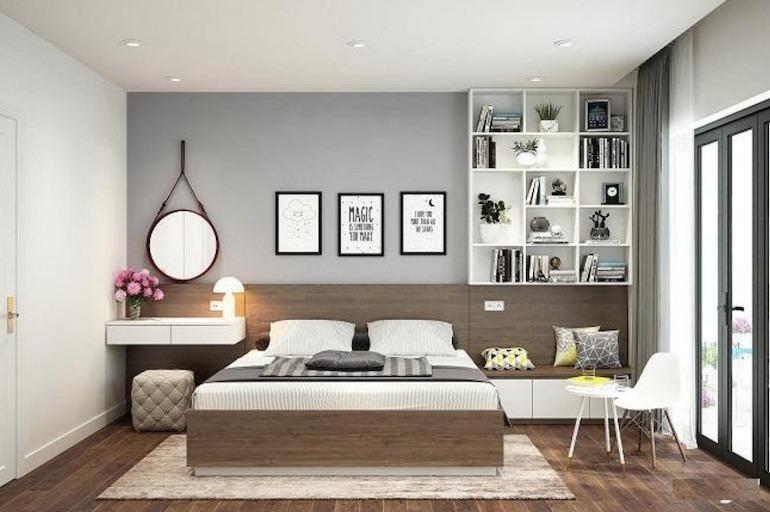 Trang trí cho phòng ngủ thêm khung tranh, bình hoa
