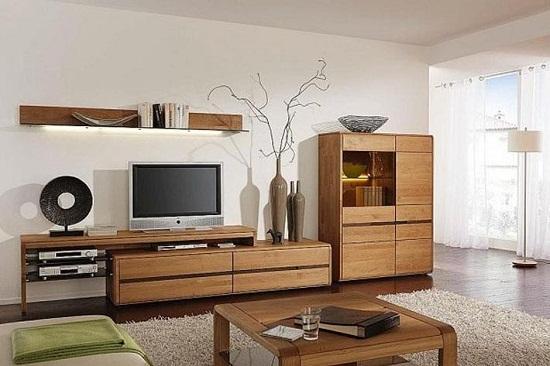 Nơi bán tủ kệ tivi gỗ sồi đẹp tại HCM 2