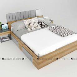 Giường ngủ gỗ công nghiệp phủ Melamine BD-M-20-22 New 2020