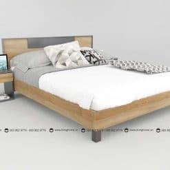 Giường ngủ gỗ công nghiệp phủ Melamine BD-M-20-23 New 2020