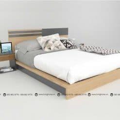 Giường ngủ gỗ công nghiệp phủ Melamine BD-M-20-24 New 2020