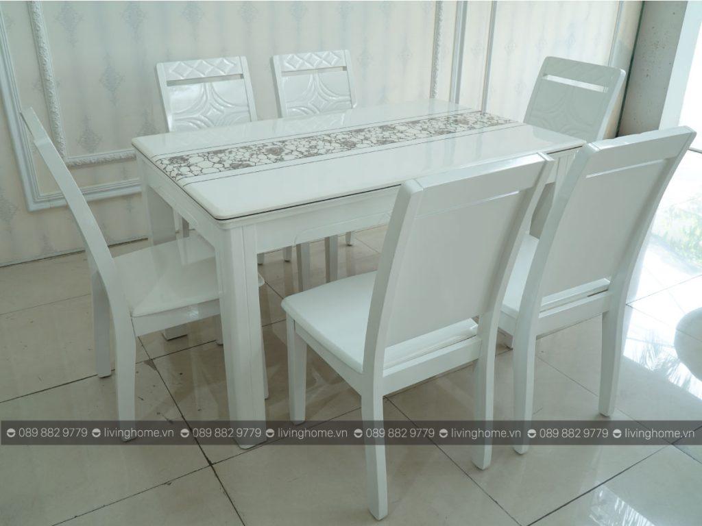 bộ bàn ăn 6 ghế mặt đá 912