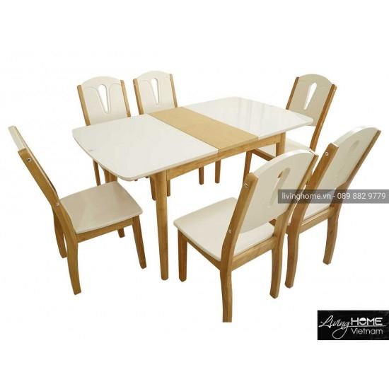 bàn ăn thông minh mặt kính a331