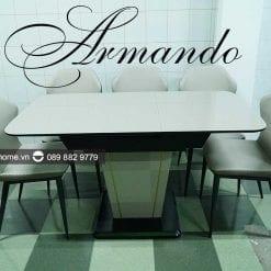 bàn ăn thông minh mặt kính Armando cao cấp