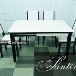 bàn ăn mặt kính santino sang trọng đẳng cấp