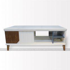 bàn ăn mặt kính chân gỗ