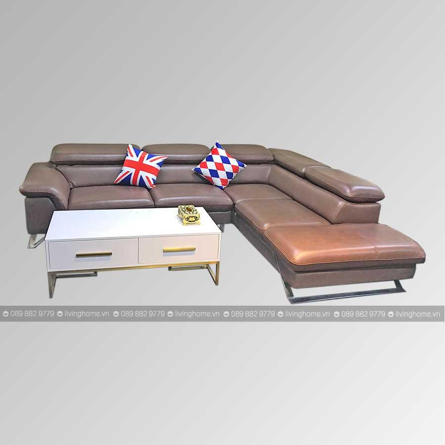 sofa góc da nhập khẩu